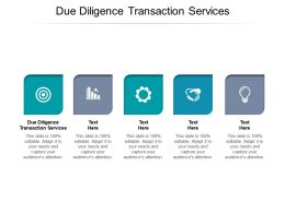 Due Diligence Transaction Services Ppt Powerpoint Presentation Icon Good