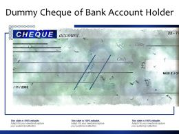 Dummy Cheque Of Bank Account Holder