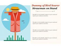Dummy Of Bird Scarer Strawman On Stand
