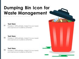 Dumping Bin Icon For Waste Management