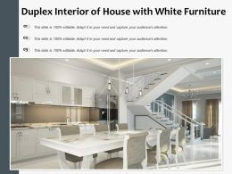 Duplex Interior Of House With White Furniture