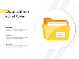 Duplication Icon Of Folder