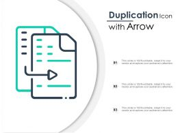 Duplication Icon With Arrow