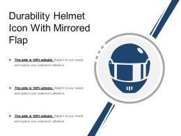 Durability Helmet Icon With Mirrored Flap