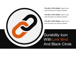 Durability Icon With Link Bind And Black Circle