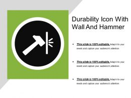 Durability Icon With Wall And Hammer