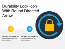 Durability Lock Icon With Round Directed Arrow