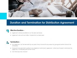 Duration And Termination For Distribution Agreement Ppt Gallery