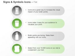 dustbin_packet_hand_sanitizer_recycle_techniques_ppt_icons_graphics_Slide01