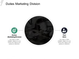 Duties Marketing Division Ppt Powerpoint Presentation Infographics Format Cpb