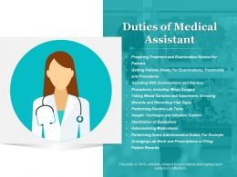 Duties Of Medical Assistant