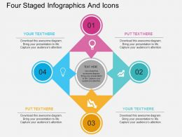 dv Four Staged Infographics And Icons Flat Powerpoint Design