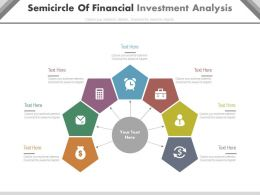dv Semicircle Of Financial Investment Analysis Flat Powerpoint Design