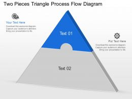 Dv Two Pieces Triangle Process Flow Diagram Powerpoint Template