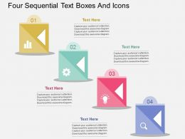 dw Four Sequential Text Boxes And Icons Flat Powerpoint Design
