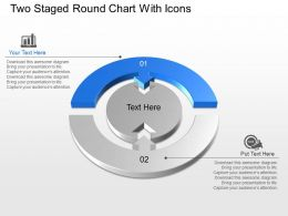 Dw Two Staged Round Chart With Icons Powerpoint Template