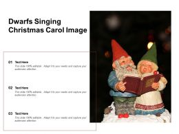 Dwarfs Singing Christmas Carol Image