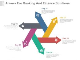 dx Six Arrows For Banking And Finance Solutions Flat Powerpoint Design