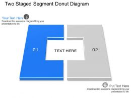 Dx Two Staged Segment Donut Diagram Powerpoint Template