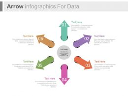 dy Six Arrows Infographics For Data Flat Powerpoint Design