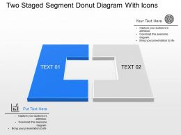 Dy Two Staged Segment Donut Diagram With Icons Powerpoint Template