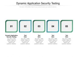 Dynamic Application Security Testing Ppt Powerpoint Presentation Summary Graphics Template Cpb