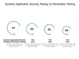 Dynamic Application Security Testing Vs Penetration Testing Ppt Powerpoint Presentation Layouts Layout Cpb