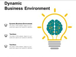 Dynamic Business Environment Ppt Powerpoint Presentation File Graphics Tutorials Cpb