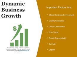 Dynamic Business Growth Powerpoint Slides