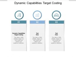 Dynamic Capabilities Target Costing Ppt Powerpoint Presentation Visual Aids Cpb