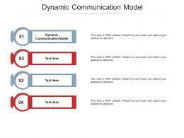 Dynamic Communication Model Ppt Powerpoint Presentation Ideas Summary Cpb