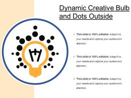 Dynamic Creative Bulb And Dots Outside