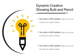 Dynamic Creative Showing Bulb And Pencil