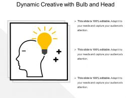 Dynamic Creative With Bulb And Head