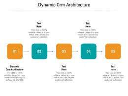 Dynamic CRM Architecture Ppt Powerpoint Presentation Summary Background Cpb