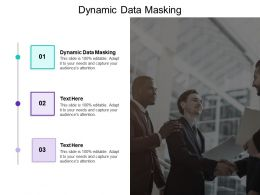 Dynamic Data Masking Ppt Powerpoint Presentation Professional Cpb