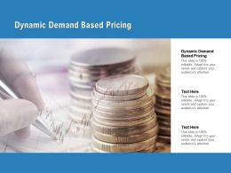 Dynamic Demand Based Pricing Ppt Powerpoint Presentation Outline Images Cpb