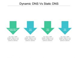 Dynamic DNS Vs Static DNS Ppt Powerpoint Presentation Pictures Images Cpb