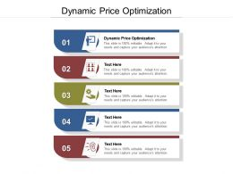 Dynamic Price Optimization Ppt Powerpoint Presentation Show Brochure Cpb