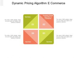 Dynamic Pricing Algorithm E Commerce Ppt Powerpoint Presentation Infographic Template Slides Cpb