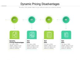 Dynamic Pricing Disadvantages Ppt Powerpoint Presentation Styles Example Cpb