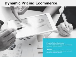 Dynamic Pricing Ecommerce Ppt Powerpoint Presentation Show Good Cpb