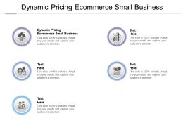 Dynamic Pricing Ecommerce Small Business Ppt Powerpoint Presentation Deck Cpb