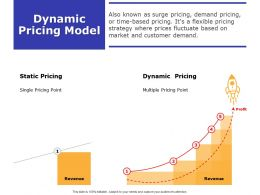 Dynamic Pricing Model Ppt Powerpoint Presentation Outline Vector