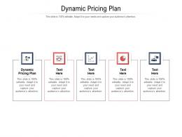 Dynamic Pricing Plan Ppt Powerpoint Presentation Icon Format Cpb