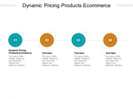 Dynamic Pricing Products Ecommerce Ppt Powerpoint Presentation Cpb