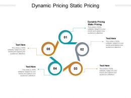 Dynamic Pricing Static Pricing Ppt Powerpoint Presentation Cpb
