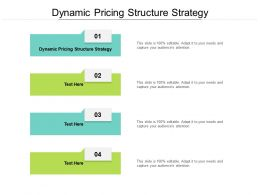 Dynamic Pricing Structure Strategy Ppt Powerpoint Presentation Gallery Clipart Cpb