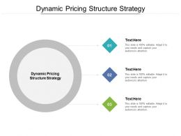 Dynamic Pricing Structure Strategy Ppt Powerpoint Presentation Inspiration Gridlines Cpb