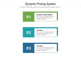 Dynamic Pricing System Ppt Powerpoint Presentation Outline Portrait Cpb